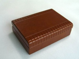 leather embossed and silk screen gift box