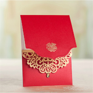 laser cutting with custom design wedding invitation cards