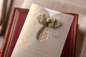 wedding invitation cards with printing, embossing, foiling