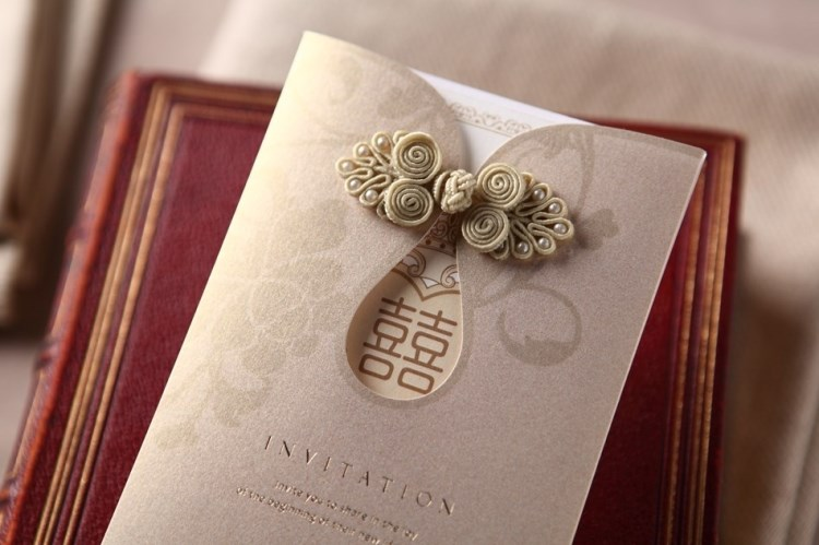 Wedding Invitation Cards With Printing Embossing