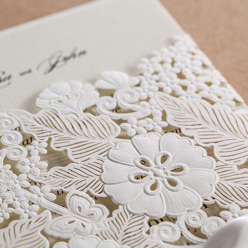 Laser cutting for wedding invitation cards in dubai sharjah high quality luxury elegant laser cut floral invitation stopboris Choice Image