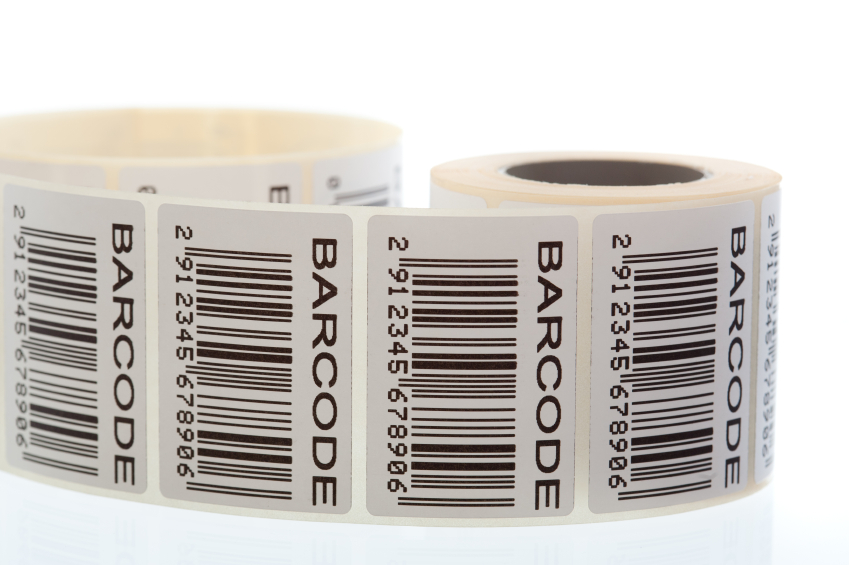 Barcode stickers rolls security sticker roll for barcode